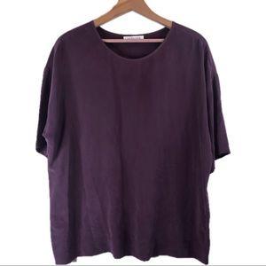 Everlane Burgundy Silk Blouse